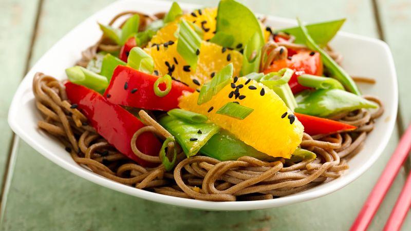 Are Soba Noodles Healthy  Healthy Sesame Soba Noodle Bowls Recipe BettyCrocker
