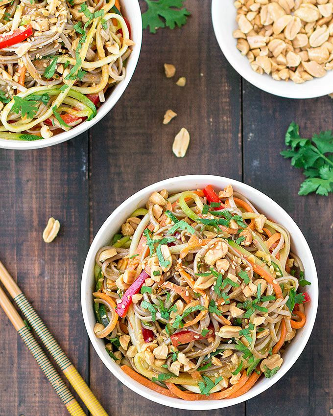Are Soba Noodles Healthy  Spicy Peanut Soba Noodles As Easy As Apple Pie