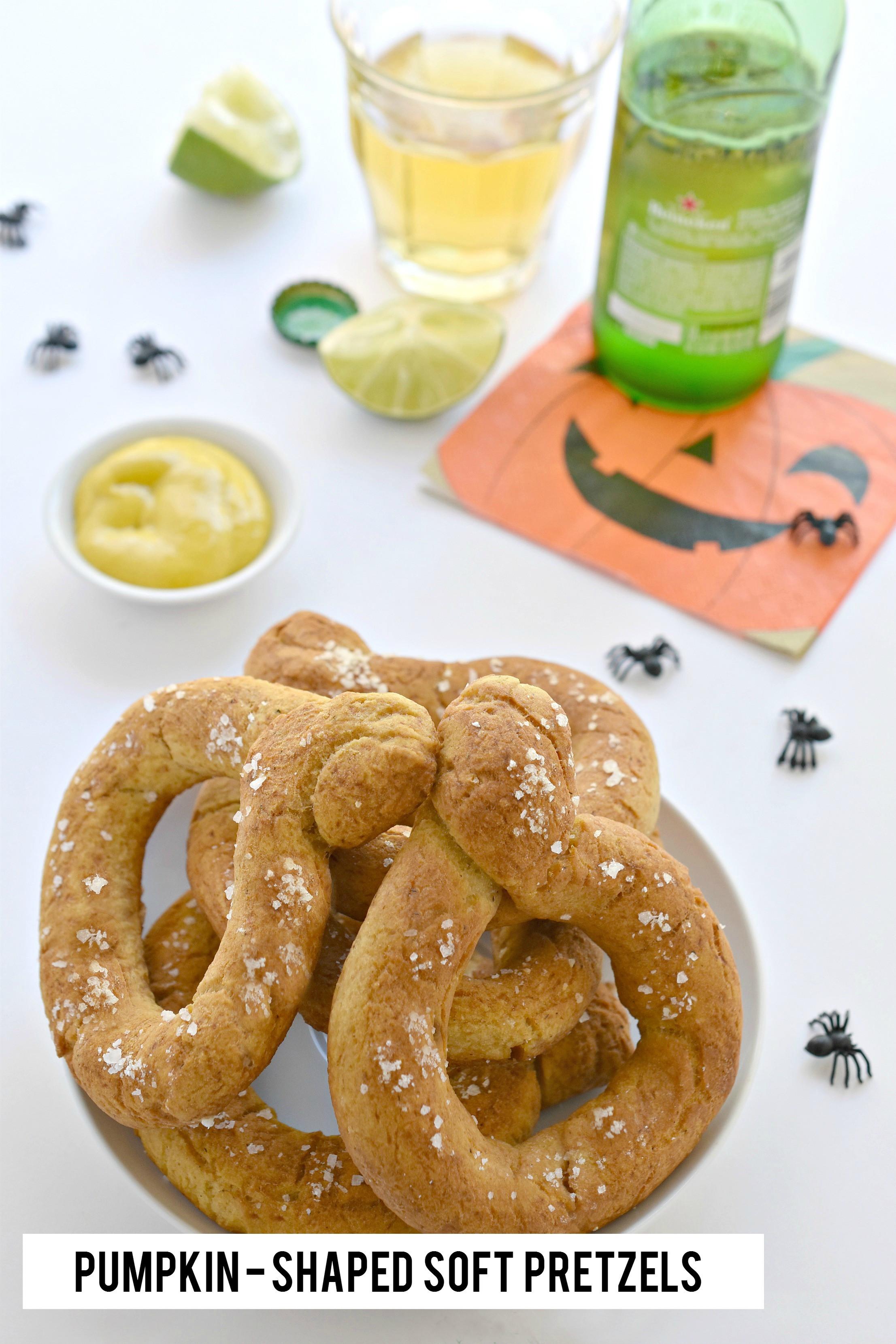 Are Soft Pretzels Healthy  Pumpkin Shaped Soft Pretzels Fork and Beans Healthy