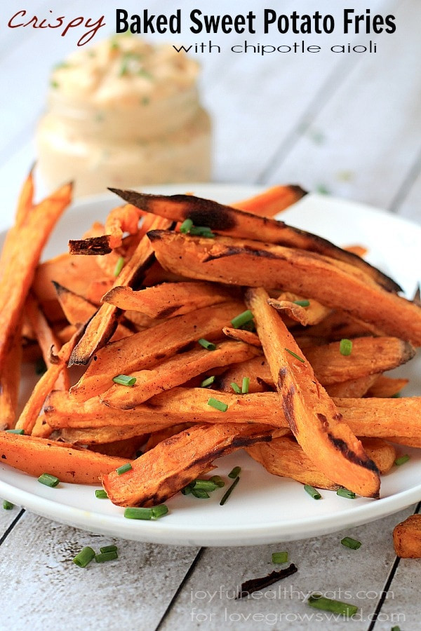 Are Sweet Potato Fries Healthy  Crispy Baked Sweet Potato Fries with Chipotle Lime Aioli