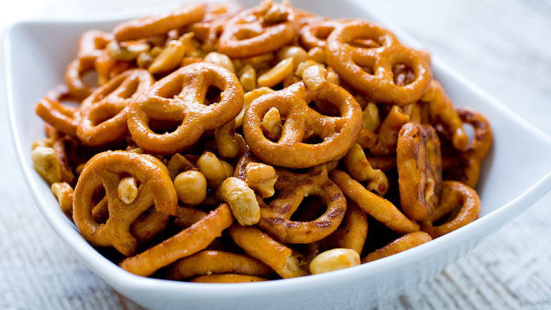 Are Unsalted Pretzels Healthy  Sweet and Spicy Pretzel Mix Recipe Tablespoon