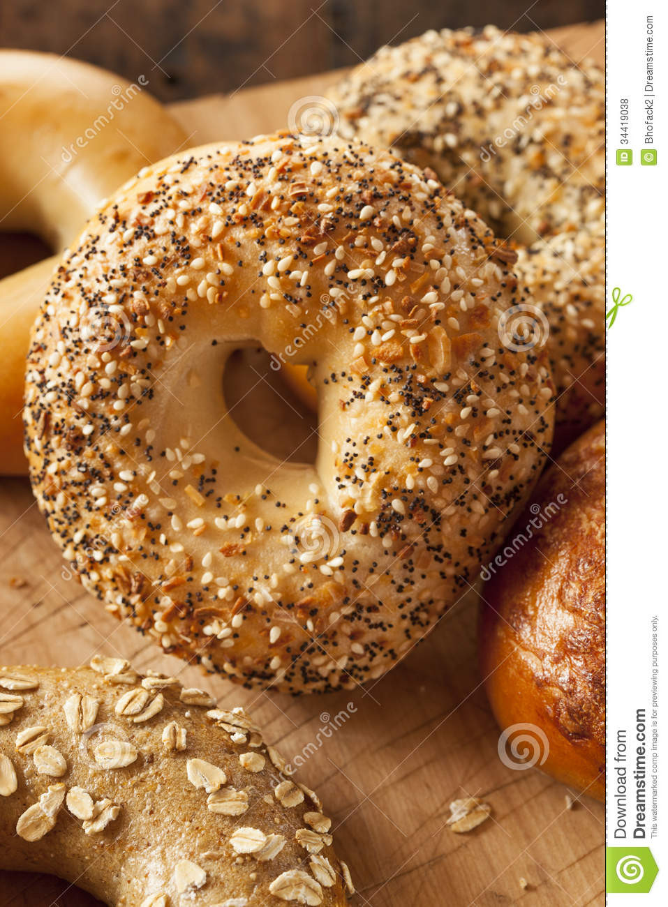 Are Whole Wheat Bagels Healthy  Healthy Organic Whole Grain Bagel Royalty Free Stock