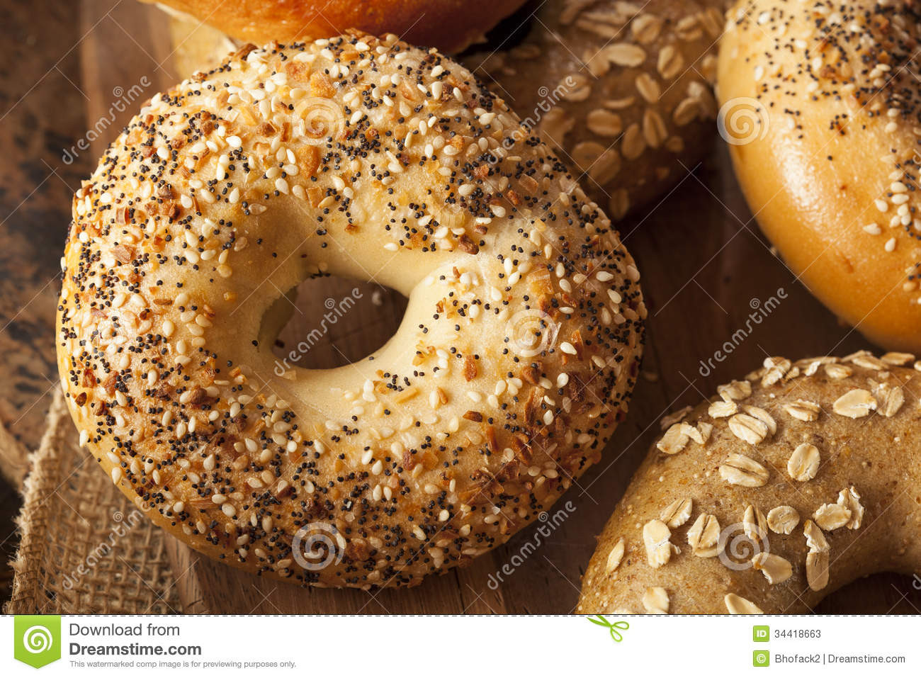 Are Whole Wheat Bagels Healthy  Healthy Organic Whole Grain Bagel Stock Image Image