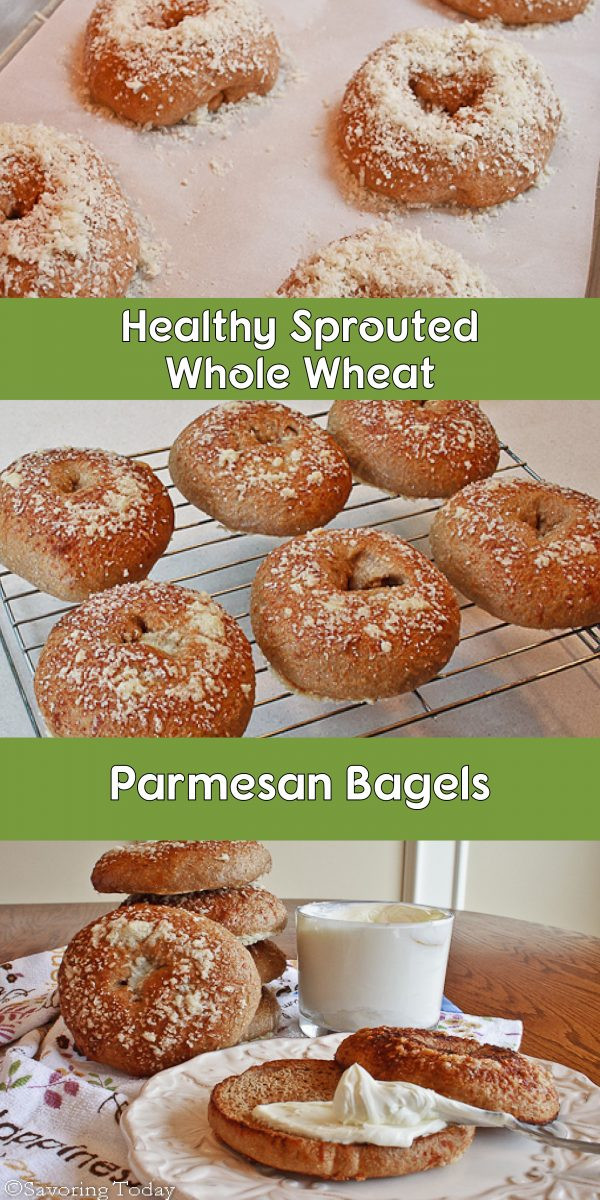 Are Whole Wheat Bagels Healthy  Parmesan Sprouted Wheat Bagels Recipe