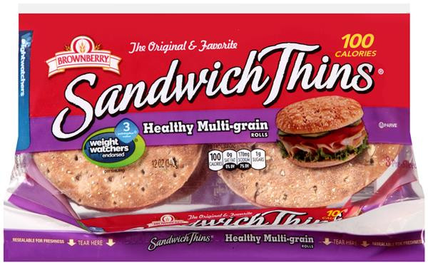 Arnold Healthy Multigrain Bread  Arnold Sandwich Thins Pre Sliced Multi Grain Rolls 8 PK