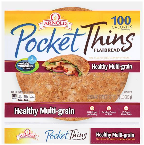 Arnold Healthy Multigrain Bread  Arnold Oroweat Brownberry Pocket Thins Healthy Multi Grain