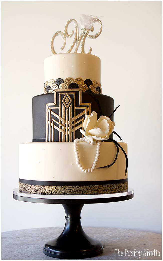 Art Deco Wedding Cakes  20 Deliciously Decadent Art Deco Wedding Cakes Chic