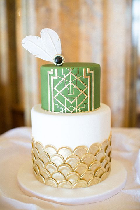 Art Deco Wedding Cakes  45 Breathtaking Art Deco Wedding Cakes