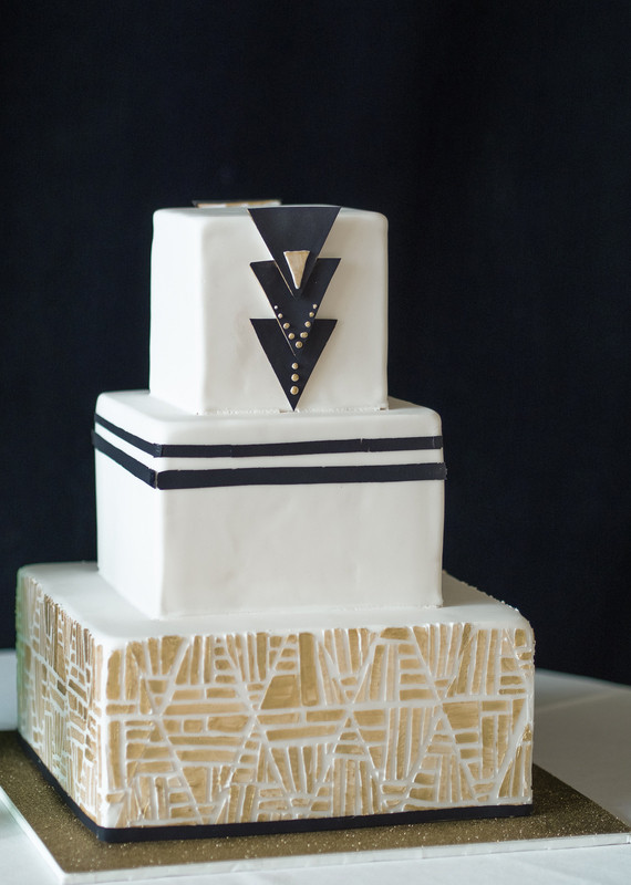 Art Deco Wedding Cakes  Bohemian Art Deco wedding inspiration