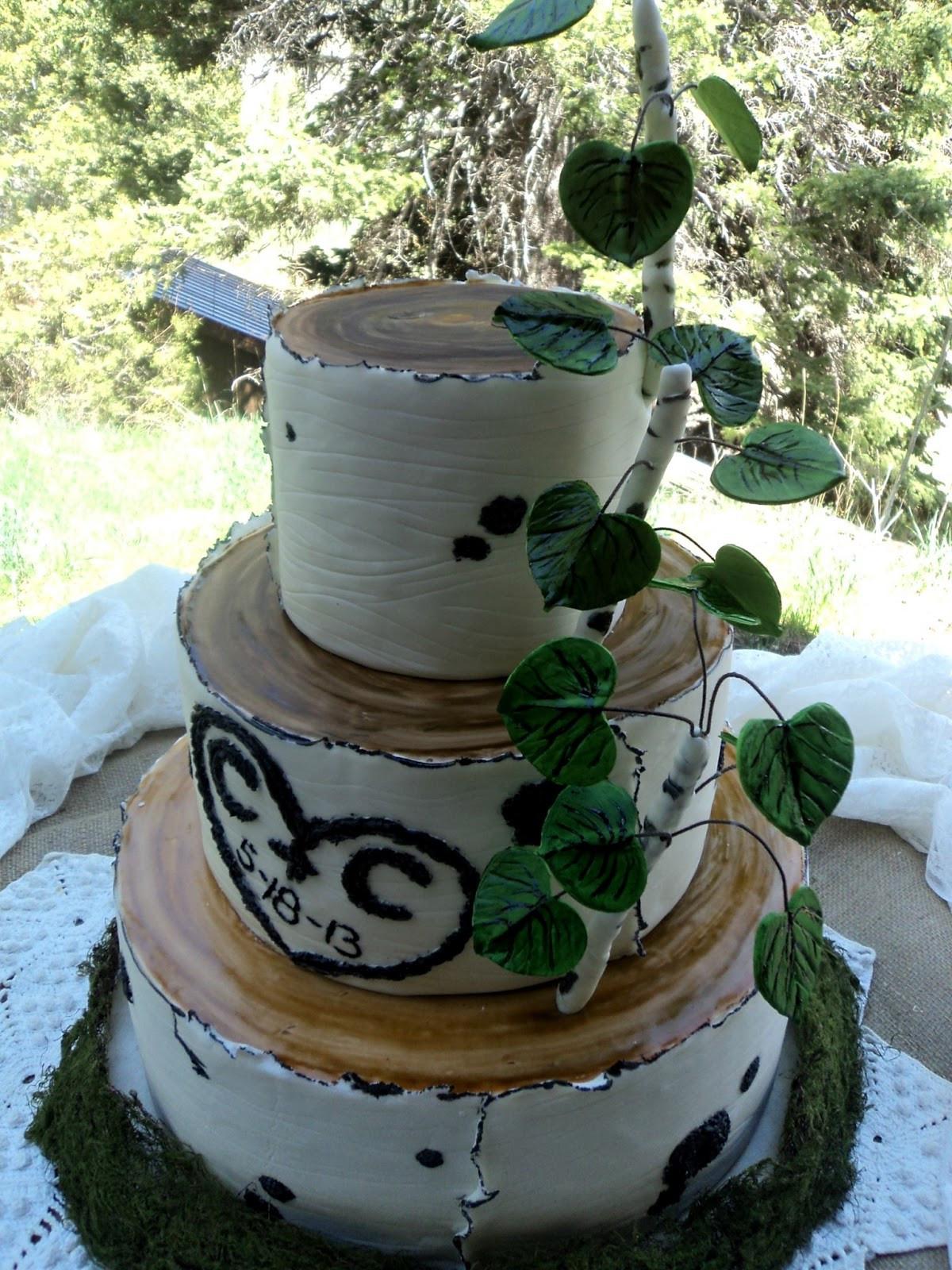 Aspen Tree Wedding Cakes  Delectable Cakes Aspen Tree Wedding Cake