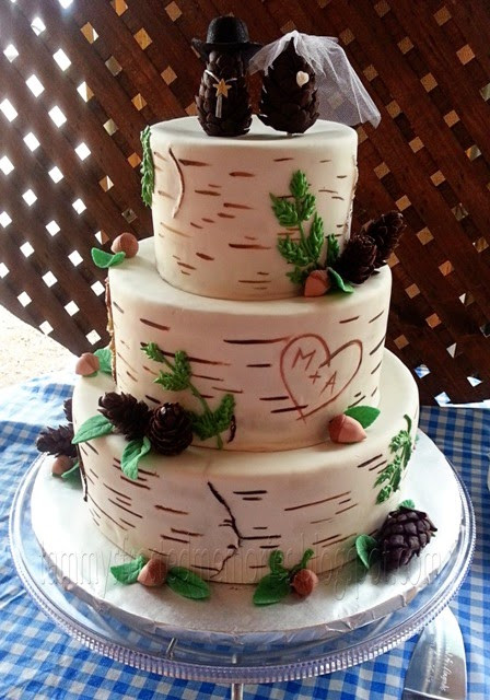 Aspen Tree Wedding Cakes  Tammy s Frosted Memories Forest for the Trees