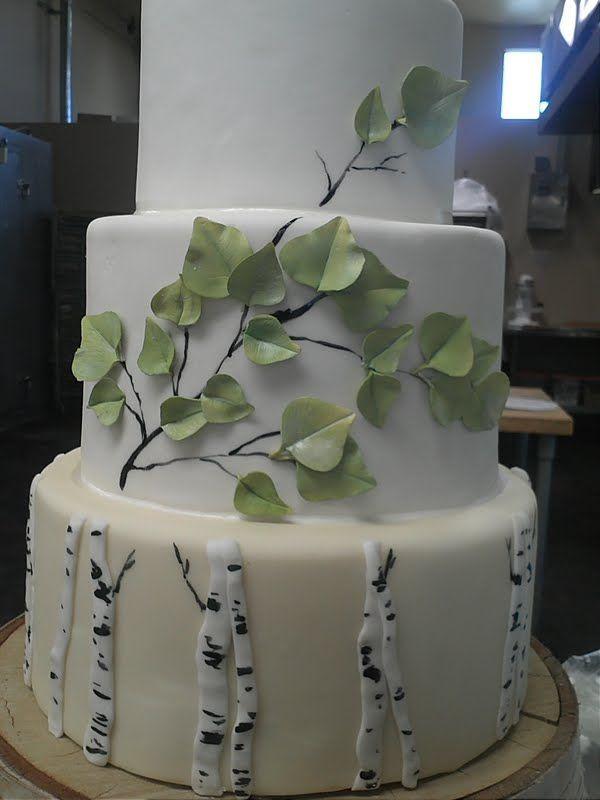 Aspen Tree Wedding Cakes  Aspen Tree Cake Montana Wedding