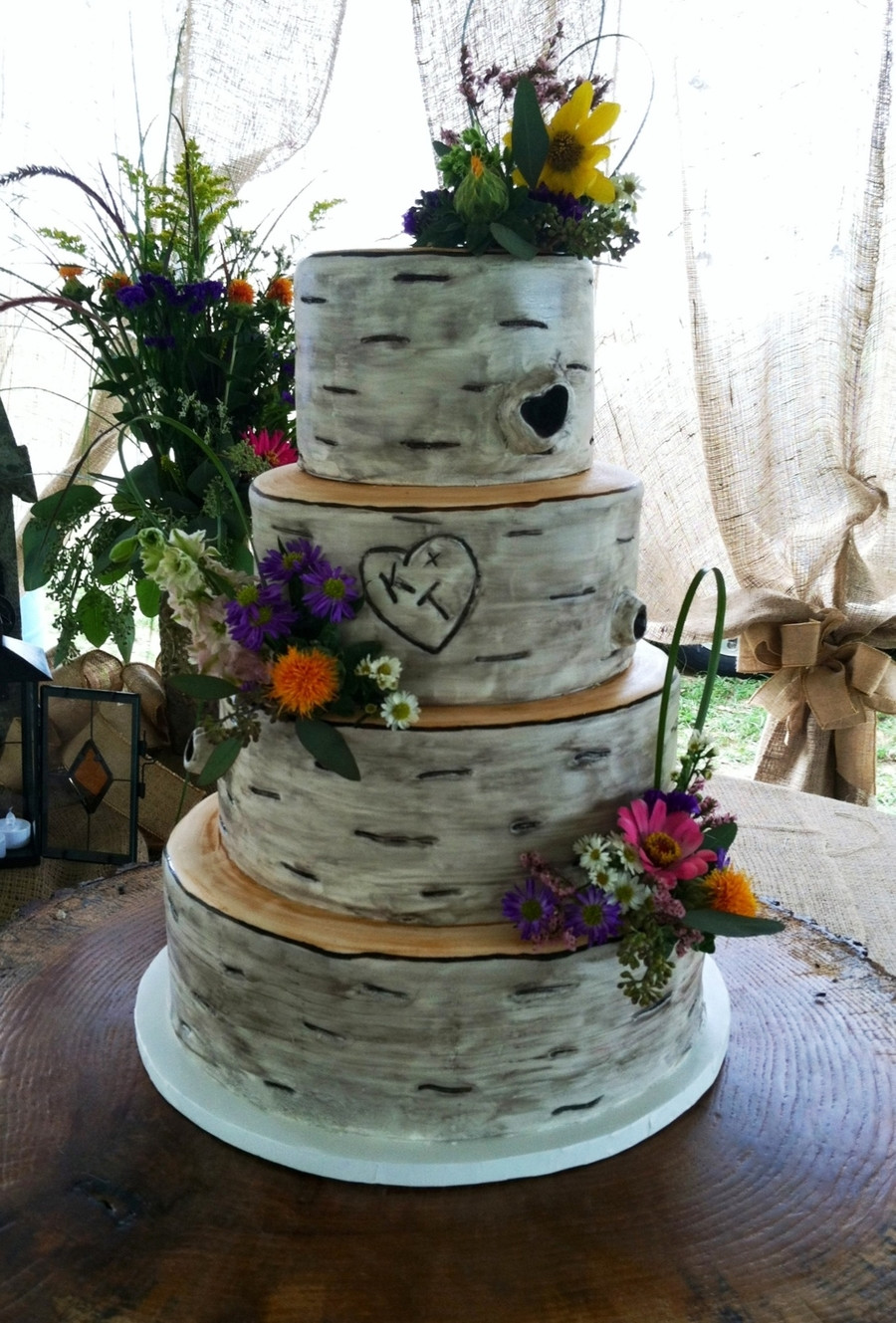 Aspen Tree Wedding Cakes  Birch Tree Wedding Cake CakeCentral