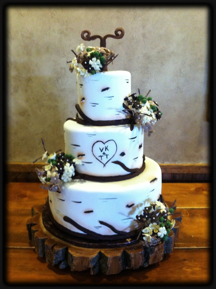 Aspen Tree Wedding Cakes  Aspen Tree Wedding Cake CakeCentral