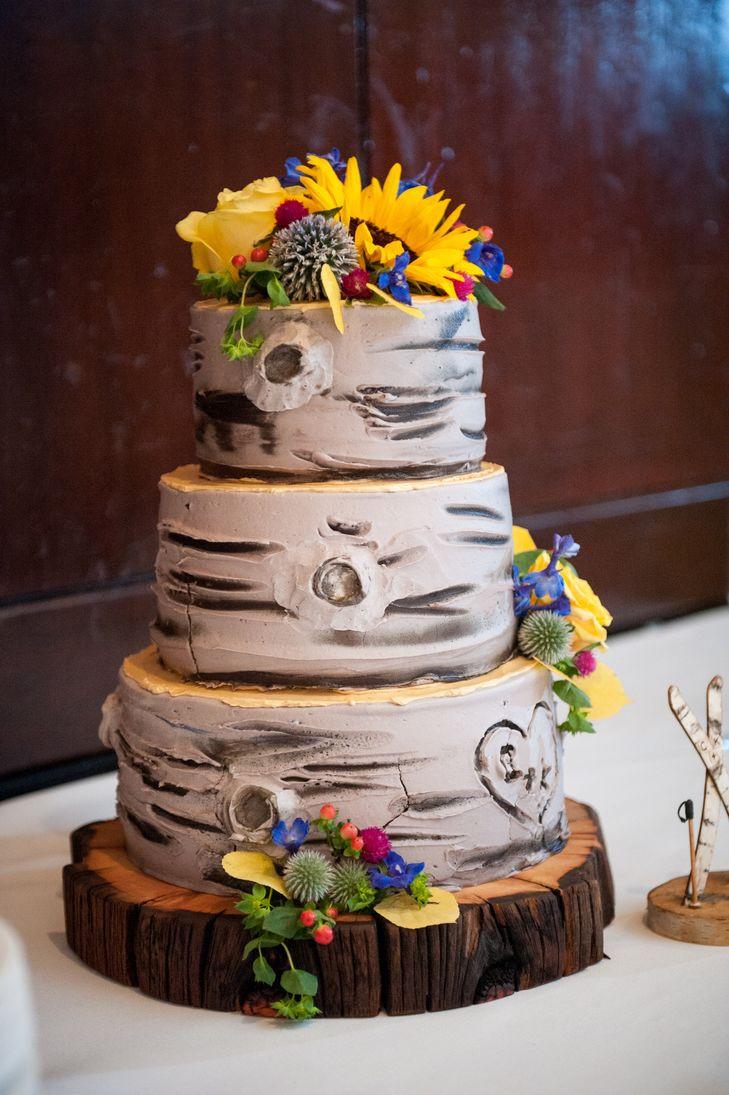 Aspen Tree Wedding Cakes  Aspen Tree Inspired Three Tier Wedding Cake