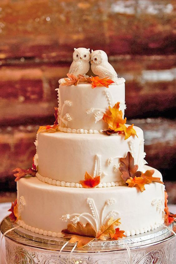 Autumn Wedding Cakes  45 Classy And Elegant Wedding Cakes Graceful Inspiration