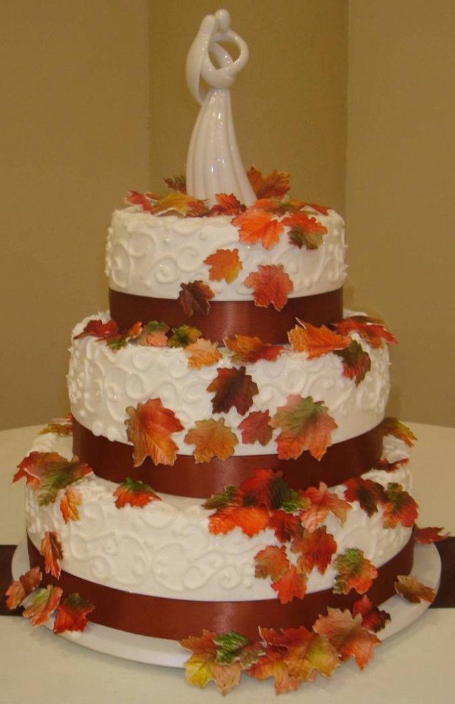 Autumn Wedding Cakes  Fall Wedding Cake Designs Wedding and Bridal Inspiration