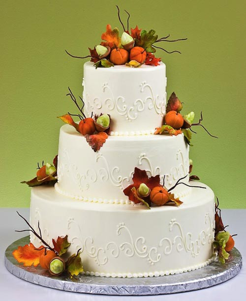 Autumn Wedding Cakes  Fall Autumn Wedding Cake Designs