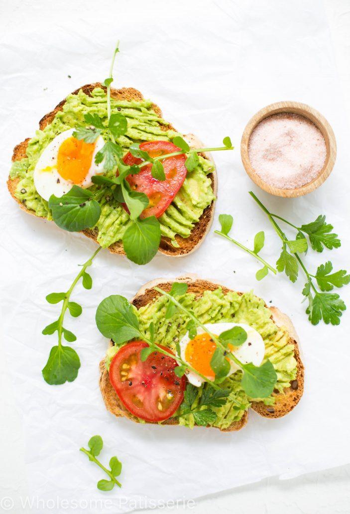 Avocado On Toast Healthy Breakfast  Smashed Avocado Toast