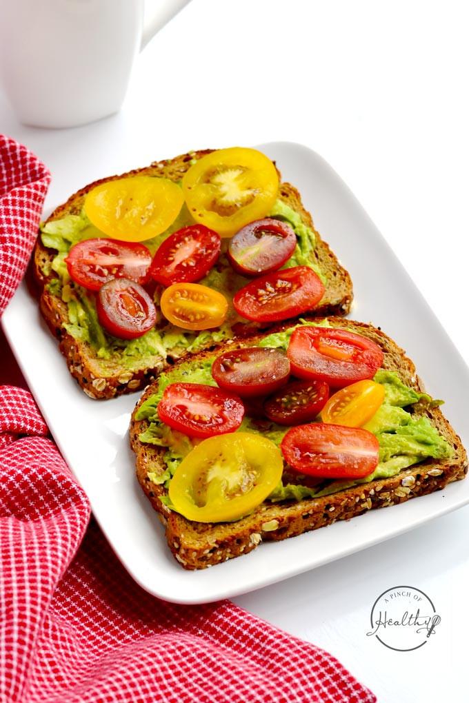 Avocado On Toast Healthy Breakfast  Avocado Toast Quick Vegan Breakfast A Pinch of Healthy