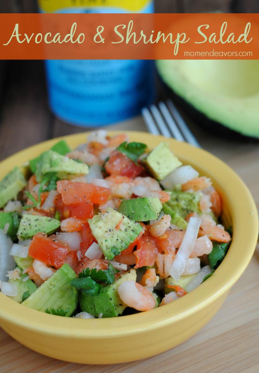 Avocado Recipes Healthy  Quick & Healthy Recipe Avocado & Shrimp Salad