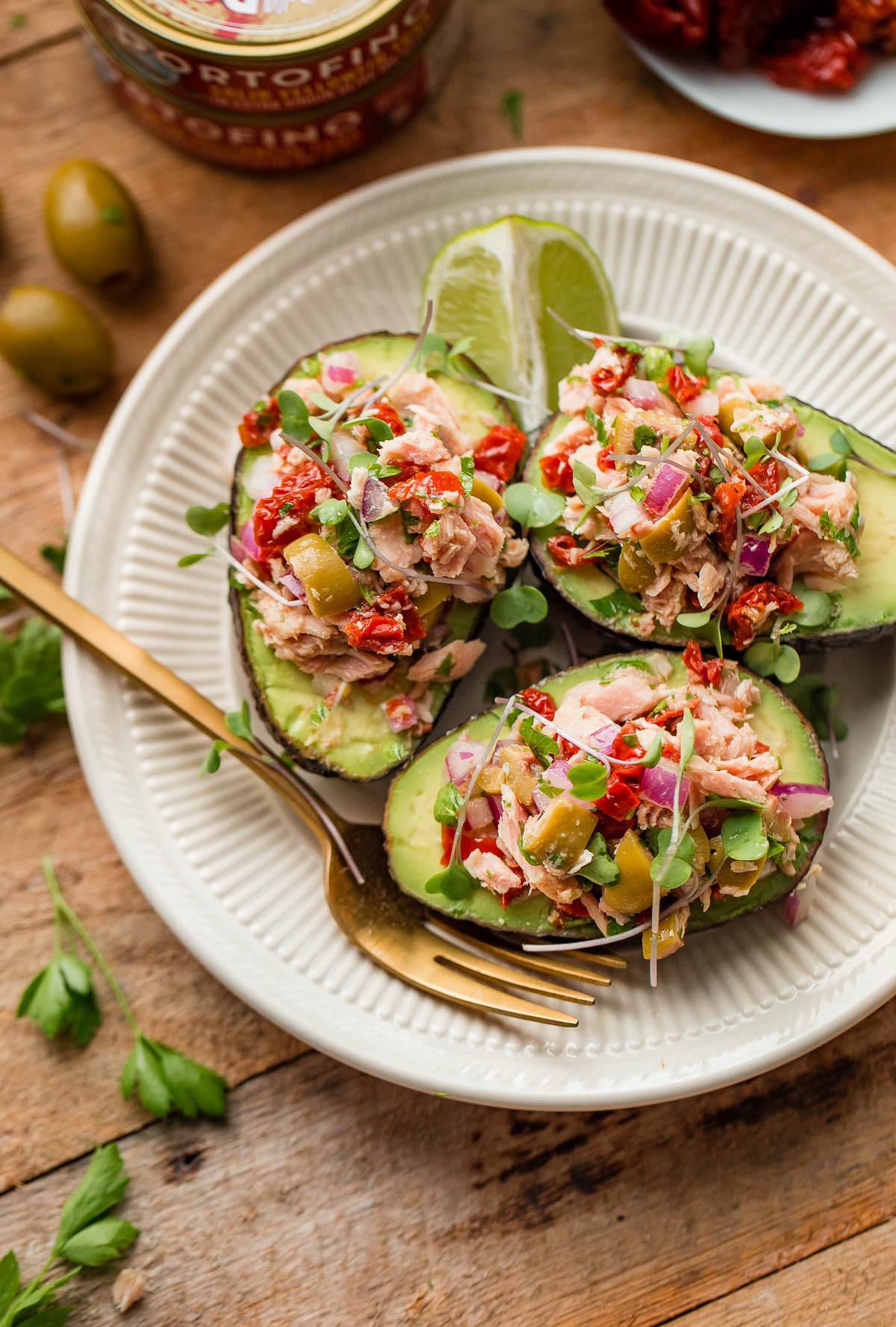 Avocado Recipes Healthy  Tuna Avocado Boats A Beautiful Plate