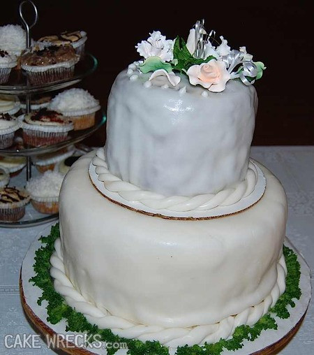 Bad Wedding Cakes  Cake Wrecks Home Underwhelmingly Bad Wedding Cakes