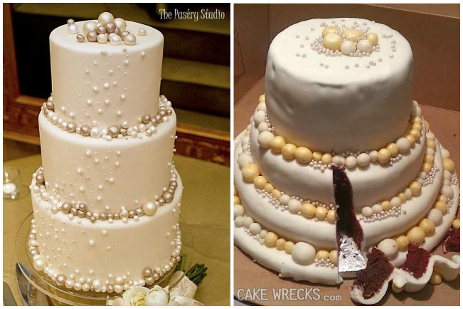 Bad Wedding Cakes  10 Amazingly bad wedding cake FAILS that will scare any