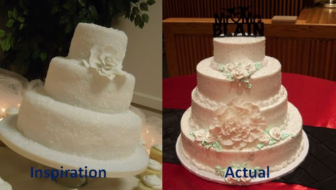 Bad Wedding Cakes  Bad execution on our wedding cake Simple design turned
