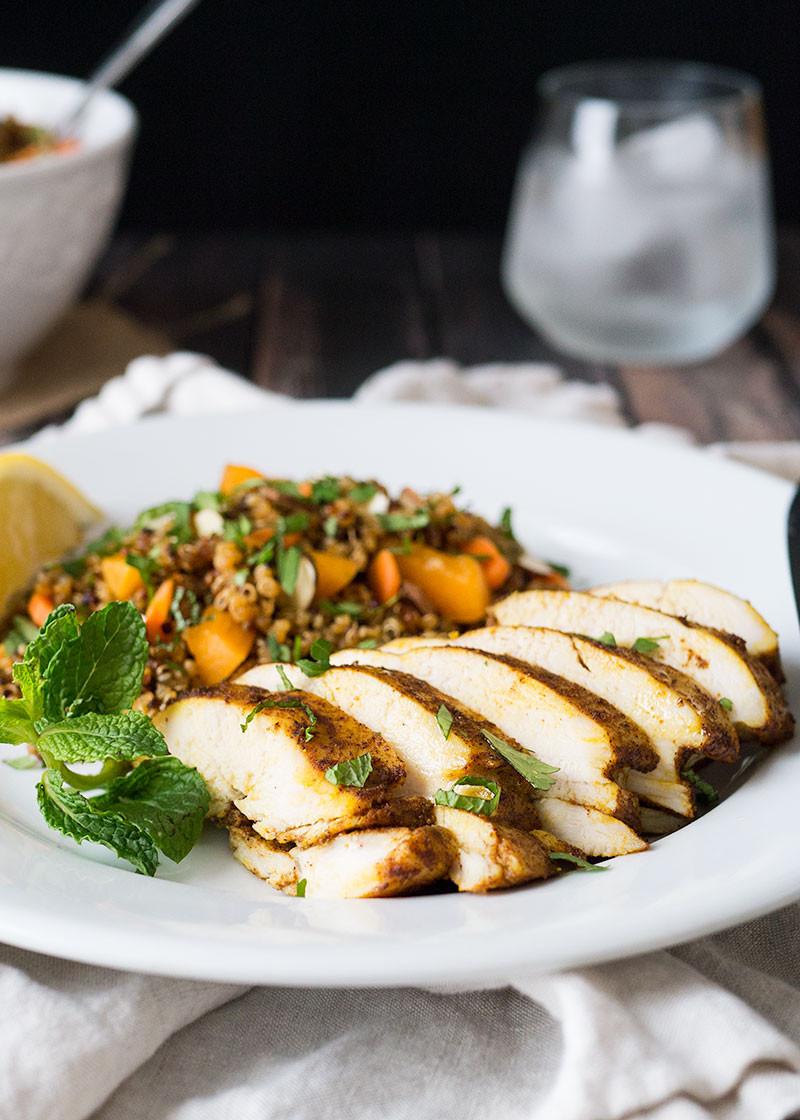 Baked Chicken Breast Recipes Healthy  Moroccan Chicken Breast Recipe with Quinoa Salad Mid