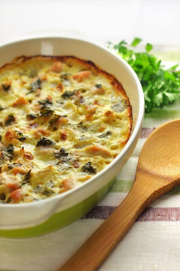 Baked Chicken Casserole Healthy  Healthy And Tasty Baked Dish Chicken Spinach Cauliflower