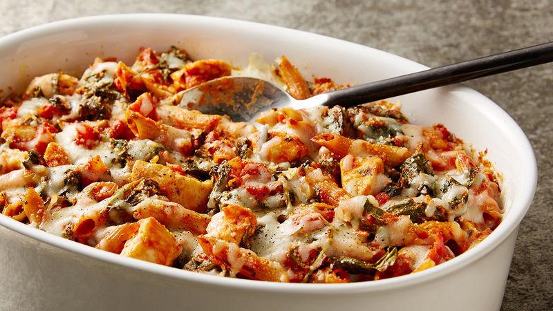 Baked Chicken Casserole Healthy  Healthy Three Cheese Chicken Pasta Bake Recipe