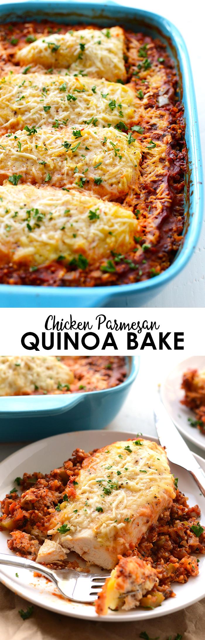 Baked Chicken Casserole Healthy  healthy chicken parmesan casserole