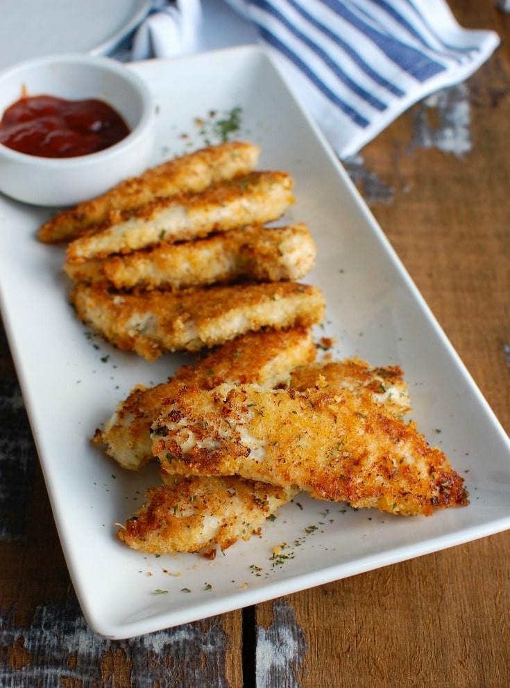 Baked Chicken Recipe Healthy  Healthy Baked Chicken Fingers Recipe A Cedar Spoon