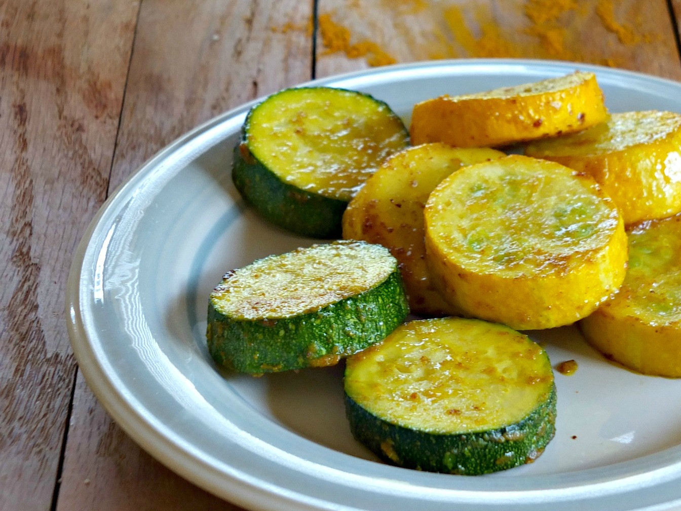 Baked Summer Squash  Curry Roasted Summer Squash