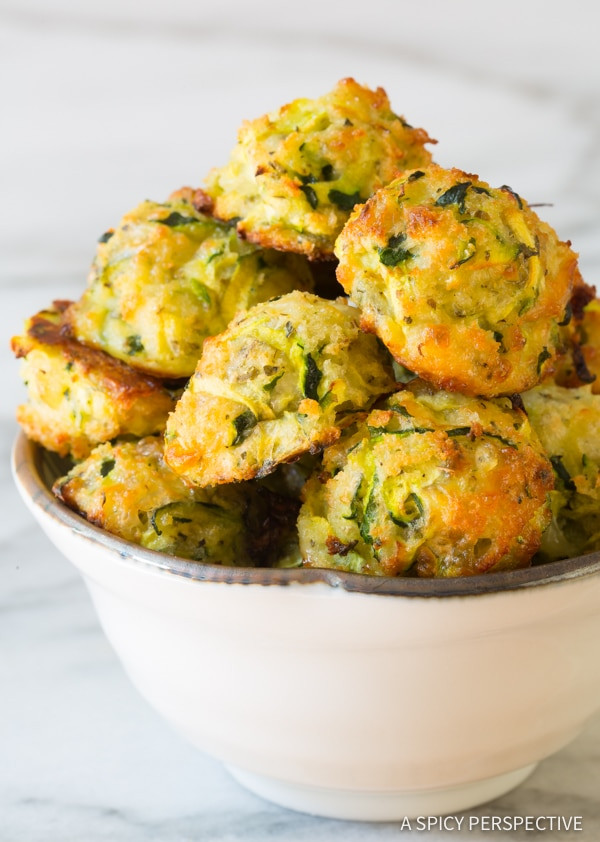 Baked Zucchini Recipes Healthy  Healthy Baked Zucchini Tots A Spicy Perspective