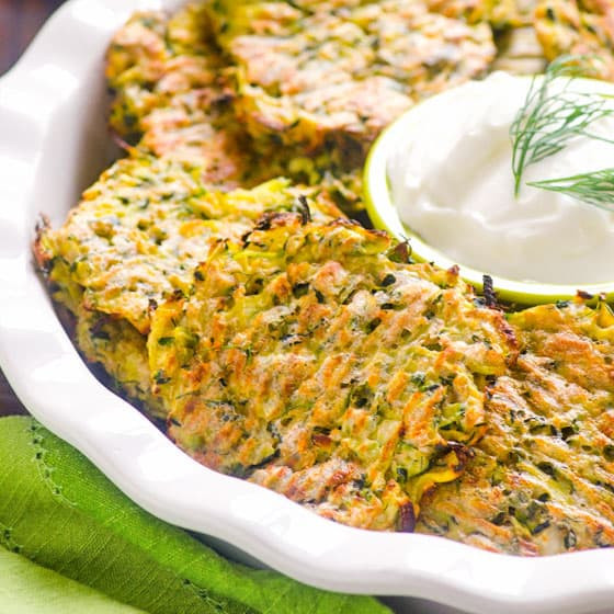 Baked Zucchini Recipes Healthy  Baked Zucchini Fritters Recipe iFOODreal Healthy
