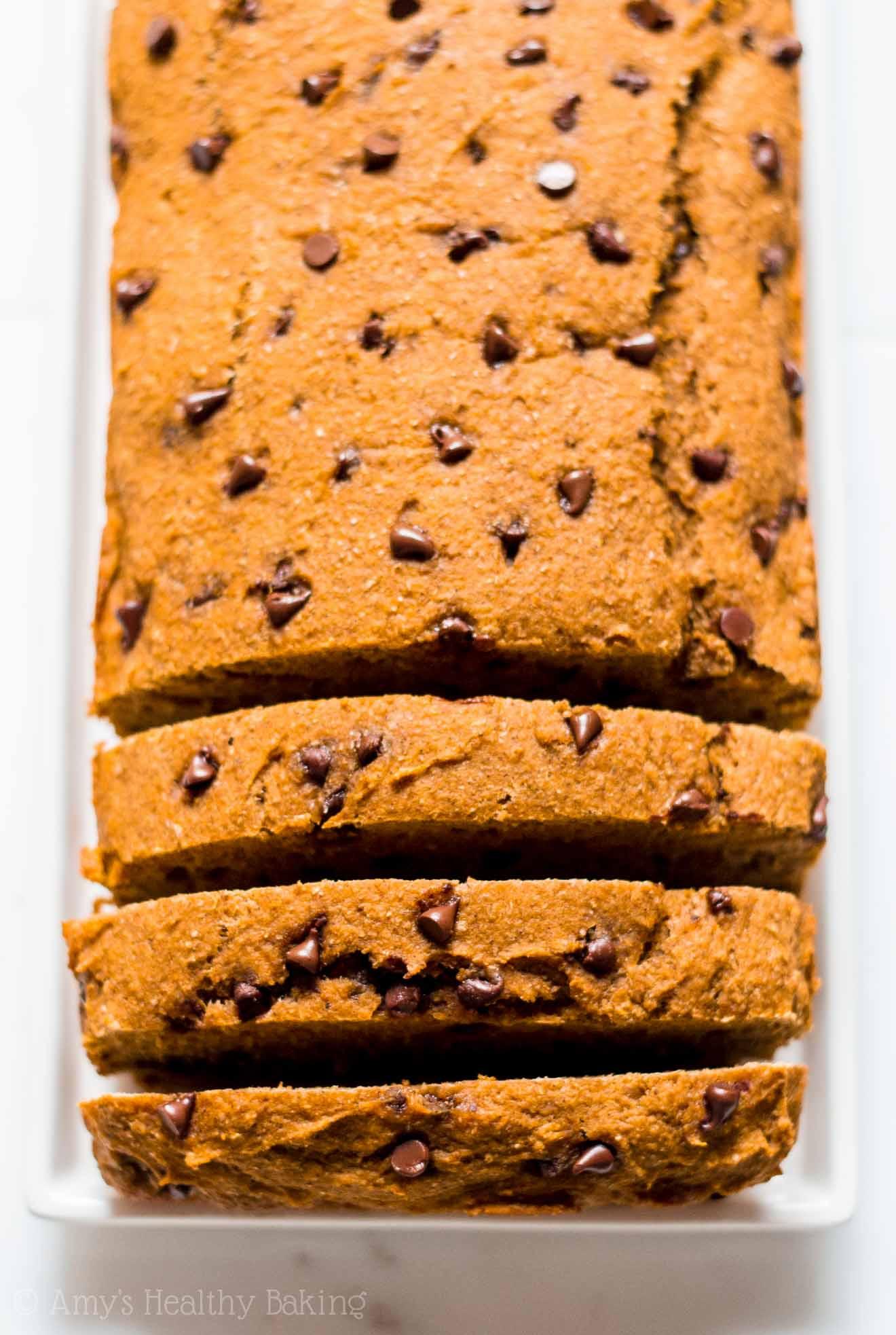 Baking Healthy Bread  Chocolate Chip Pumpkin Bread