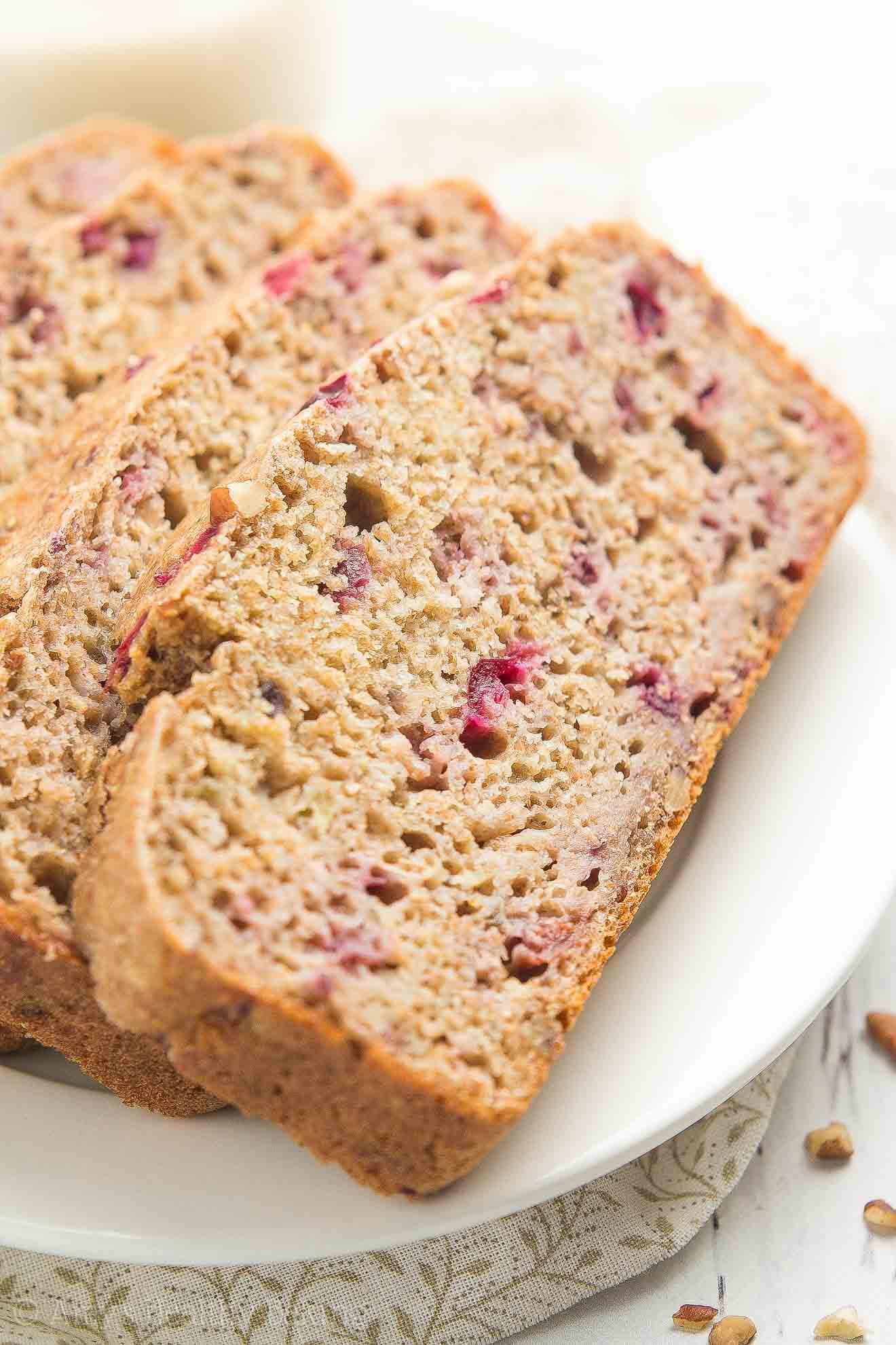 Baking Healthy Bread  Healthy Cranberry Pecan Banana Bread