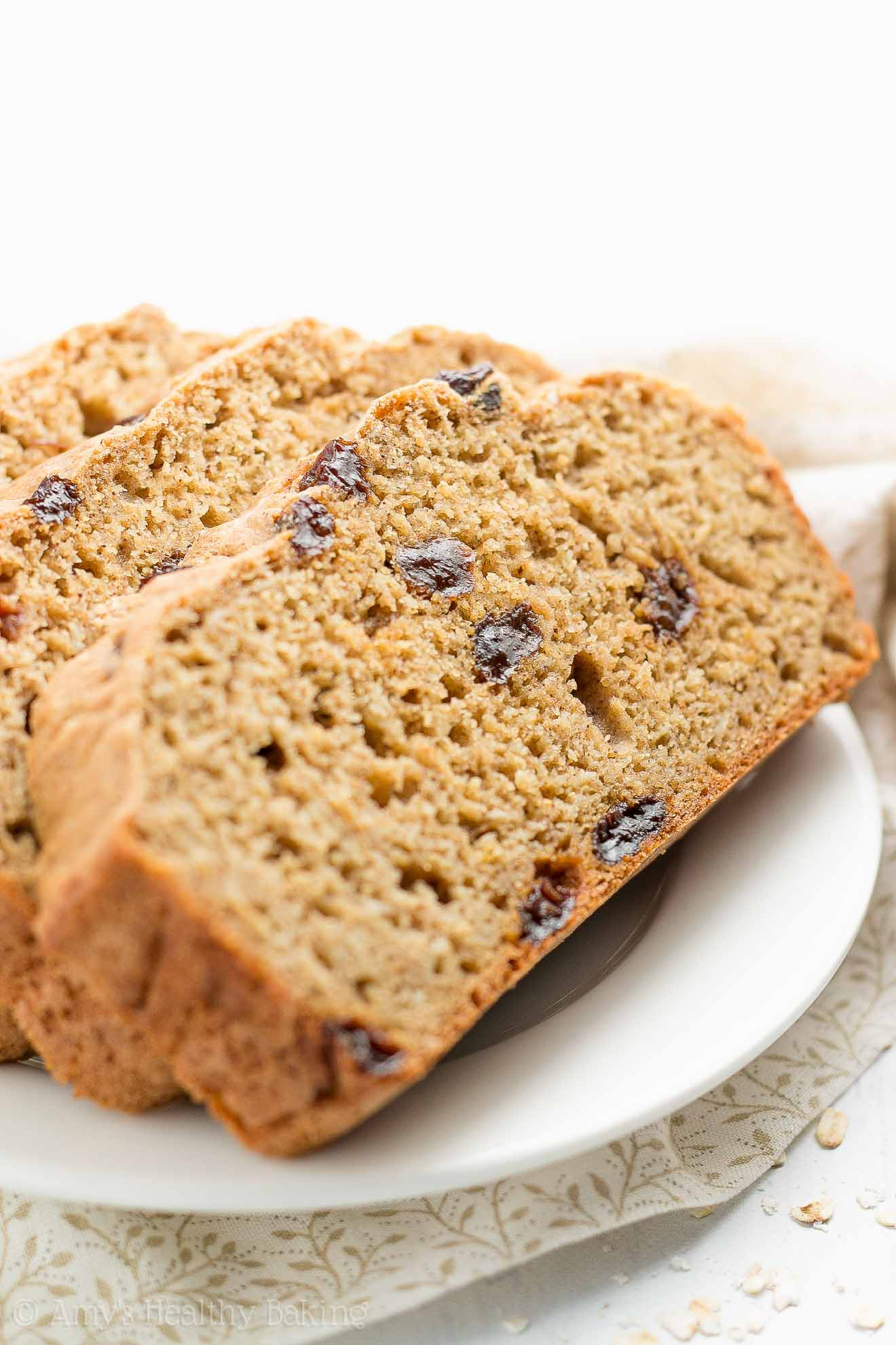 Baking Healthy Bread  Healthy Oatmeal Raisin Breakfast Quick Bread