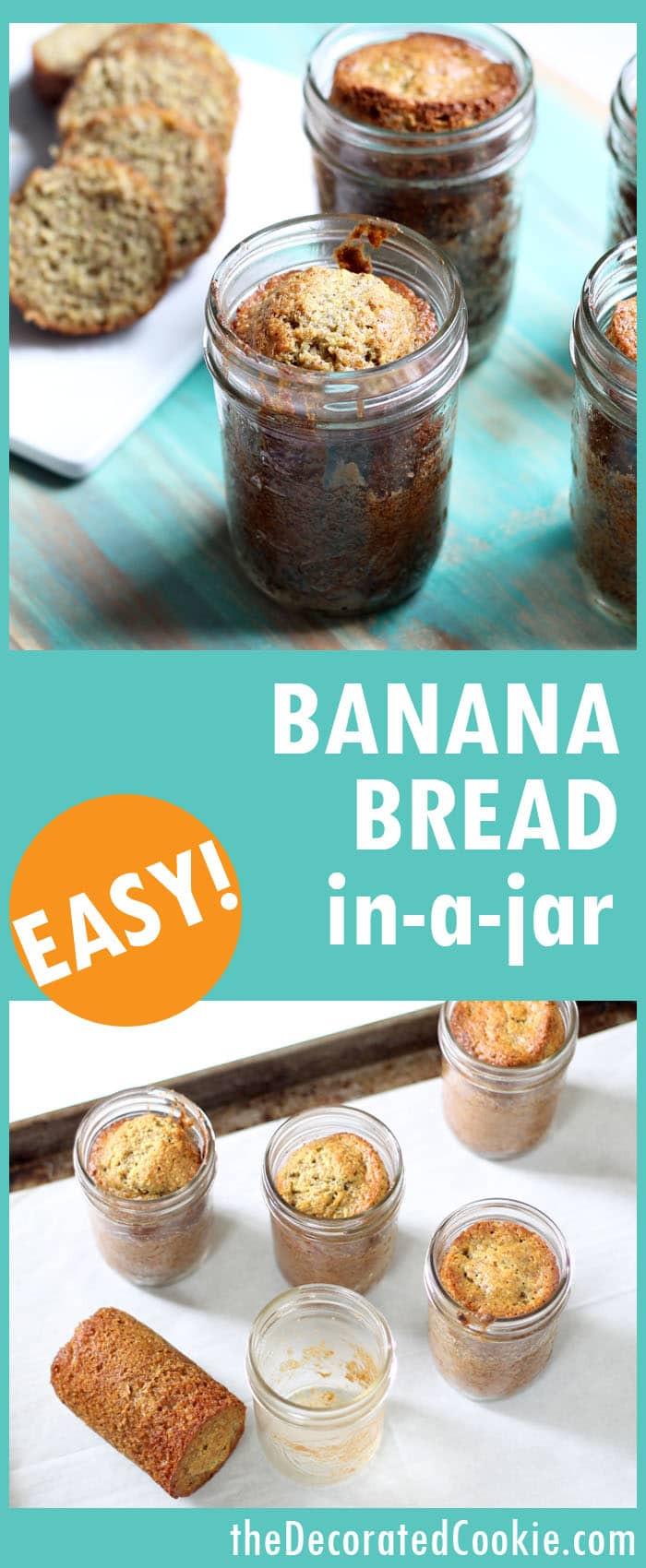 Baking Healthy Bread  How to bake banana bread in a jar Easy healthy banana