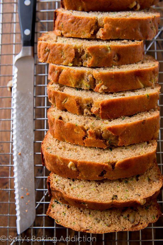 Baking Healthy Bread  Greek Yogurt Zucchini Bread Sallys Baking Addiction