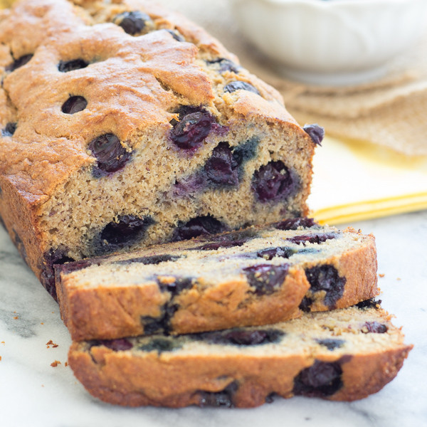 Banana Blueberry Bread Healthy  Our Favorite Healthy Blueberry Banana Bread Whole Wheat