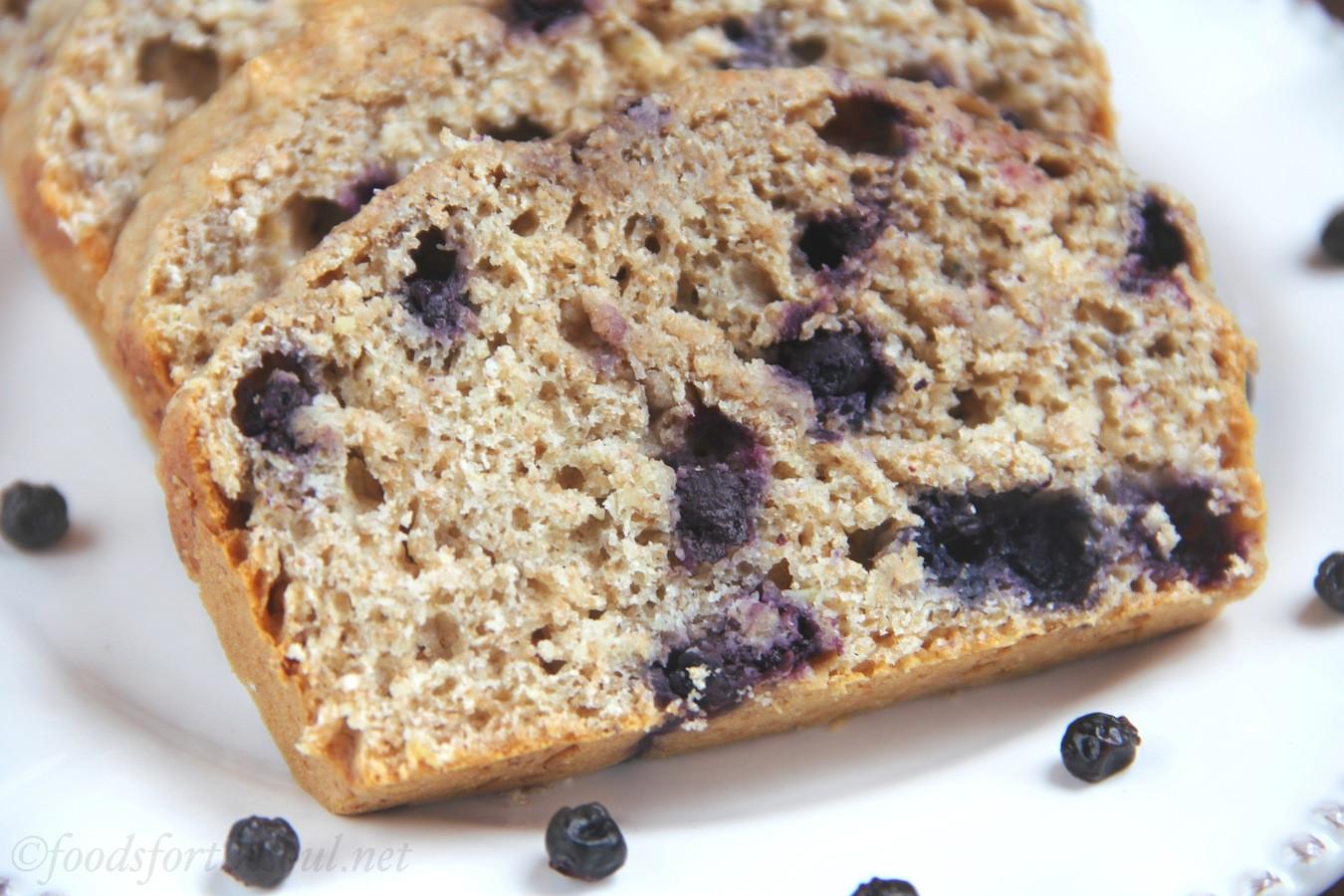 Banana Blueberry Bread Healthy  Whole Wheat Blueberry Banana Bread