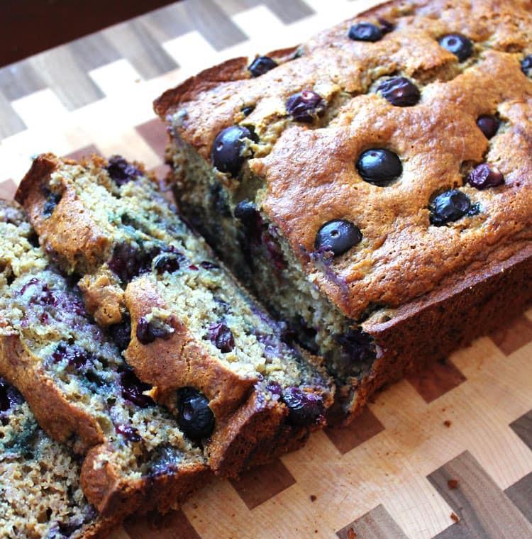 Banana Blueberry Bread Healthy  healthy blueberry banana bread