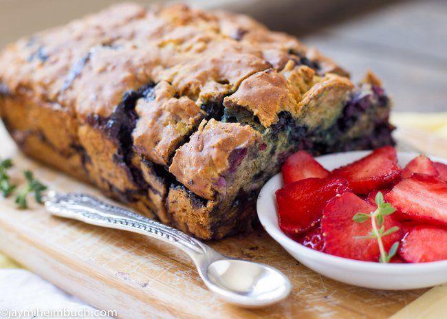 Banana Blueberry Bread Healthy  Healthy Banana Blueberry Bread