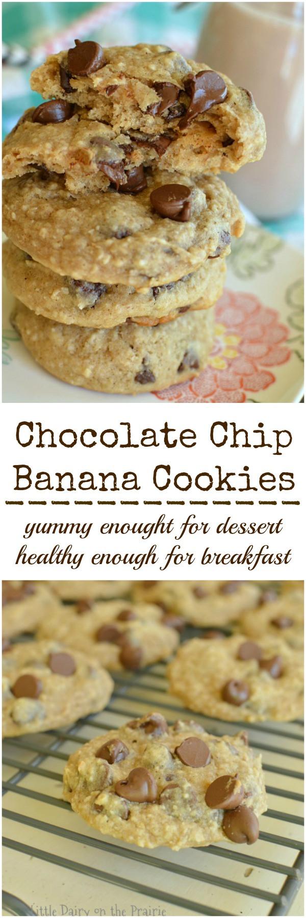 Banana Bread Cookies Healthy  Healthy Chocolate Chip Banana Cookies Little Dairy