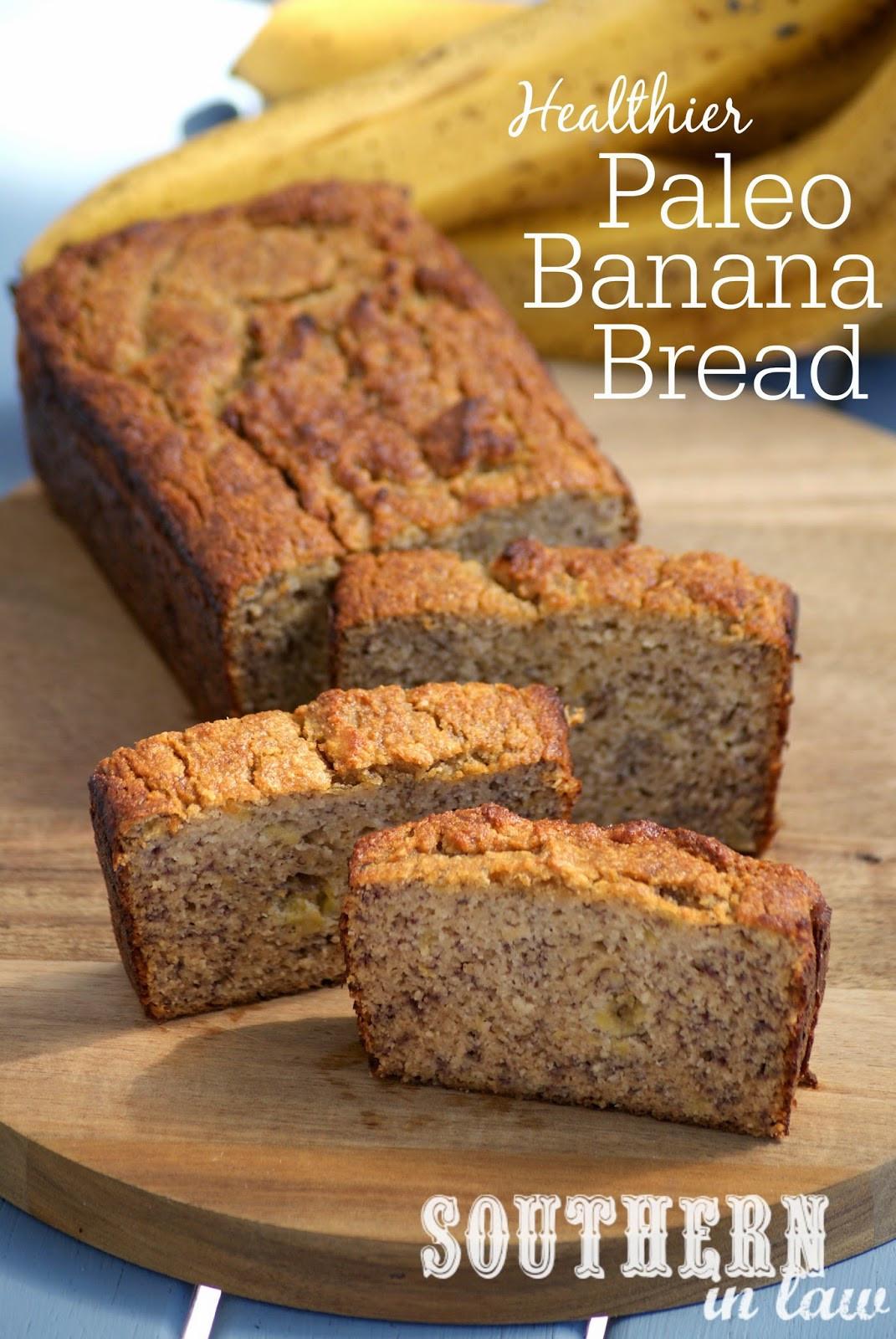 Banana Bread Healthy Recipe  Southern In Law Recipe The Best Healthy Paleo Banana Bread