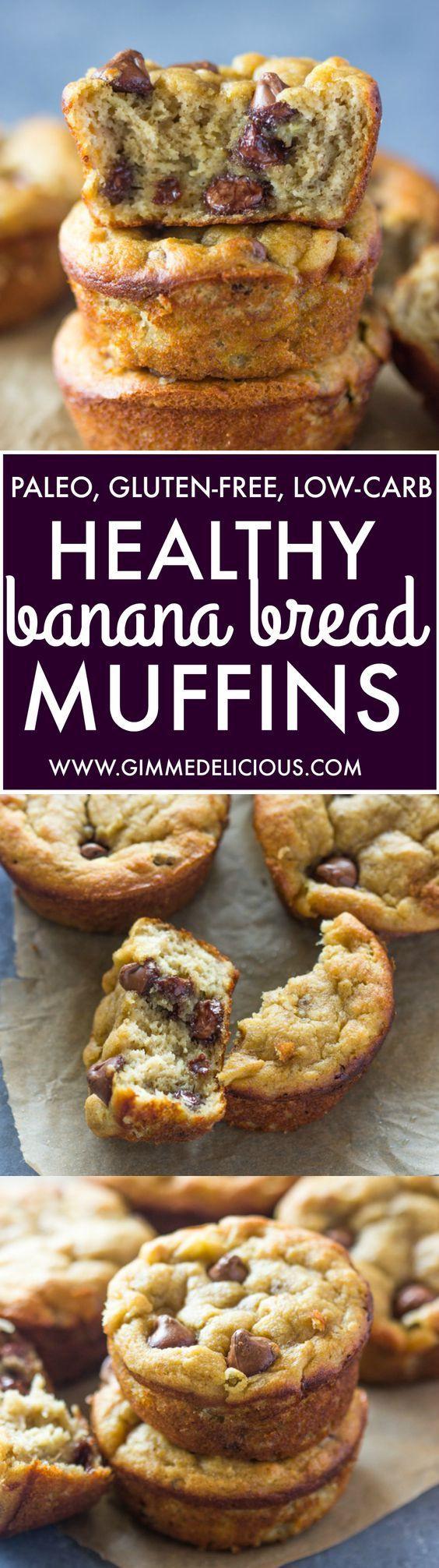 Banana Bread Muffins Healthy  Healthy Banana Bread Muffins Paleo Gluten Free