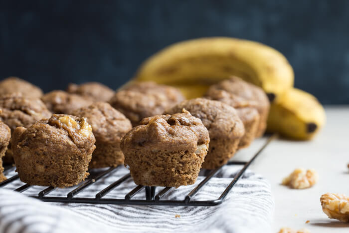 Banana Bread Muffins Healthy  Healthy Banana Bread Muffins with Walnuts